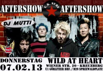Aftershow party poster - click to enlarge