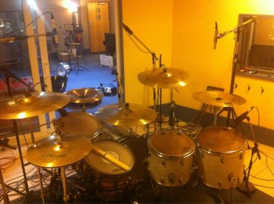 Picture by Jamie on day 3 (18/7/12), from inside the recording booth - click image to enlarge