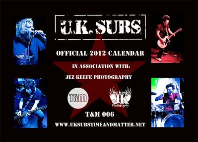 T&M 006 - U.K. SUBS 2012 Calendar cover - click to enlarge