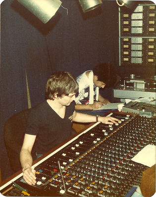 Laurie Dipple and Charlie in the studio during the recording of Brand New Age. Click to enlarge. From the collection of Nicky Garratt