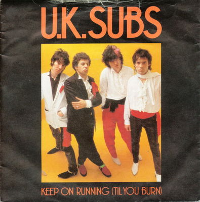 Keep on running (UK) front cover