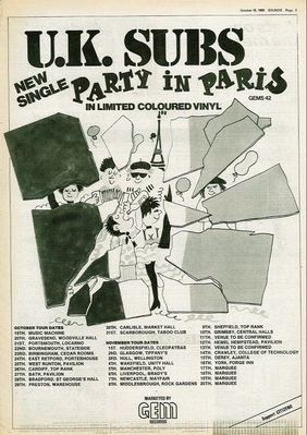 Party in Paris press ad