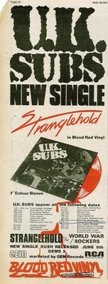 Stranglehold press ad