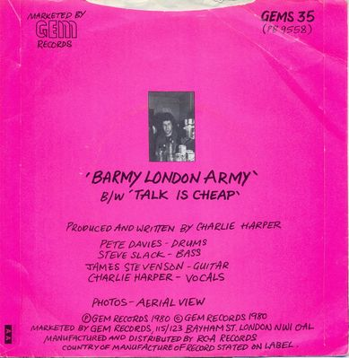 Barmy London Army back cover - click to enlarge